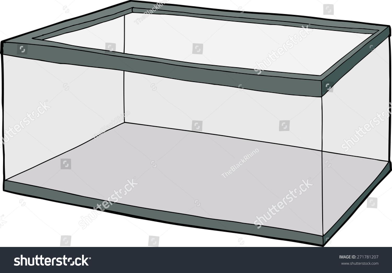 Single hand drawn empty fish tank stock vector 271781207 for Empty fish tank