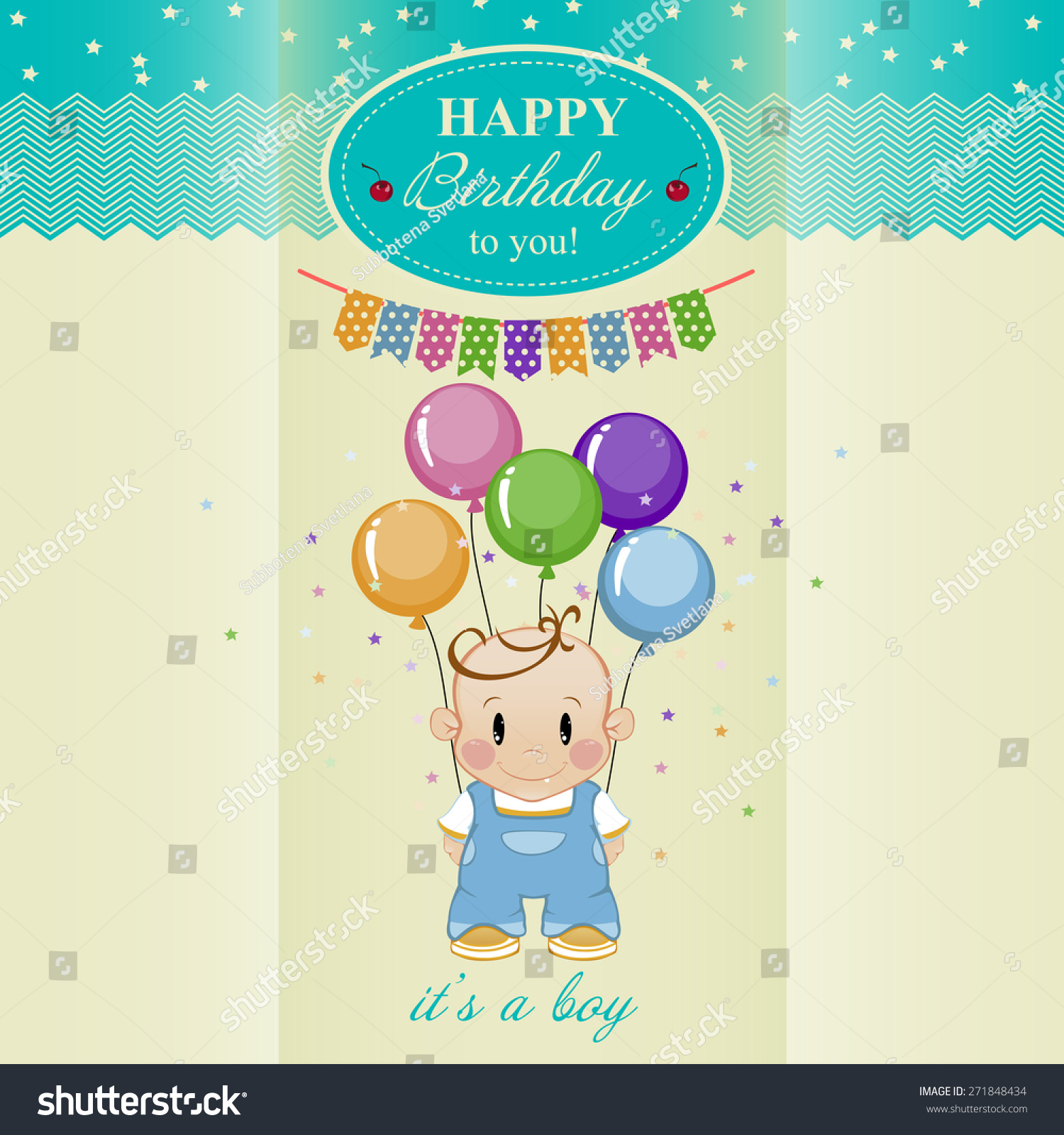 birthday card boys birthday stock vector   shutterstock, Birthday card