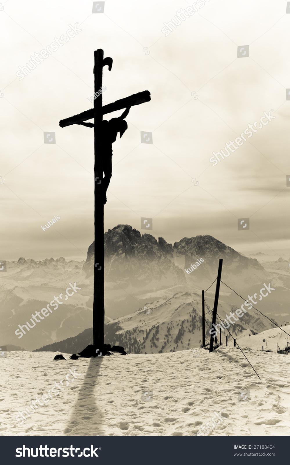 holy cross crucified jesus christ stock photo 27188404 shutterstock