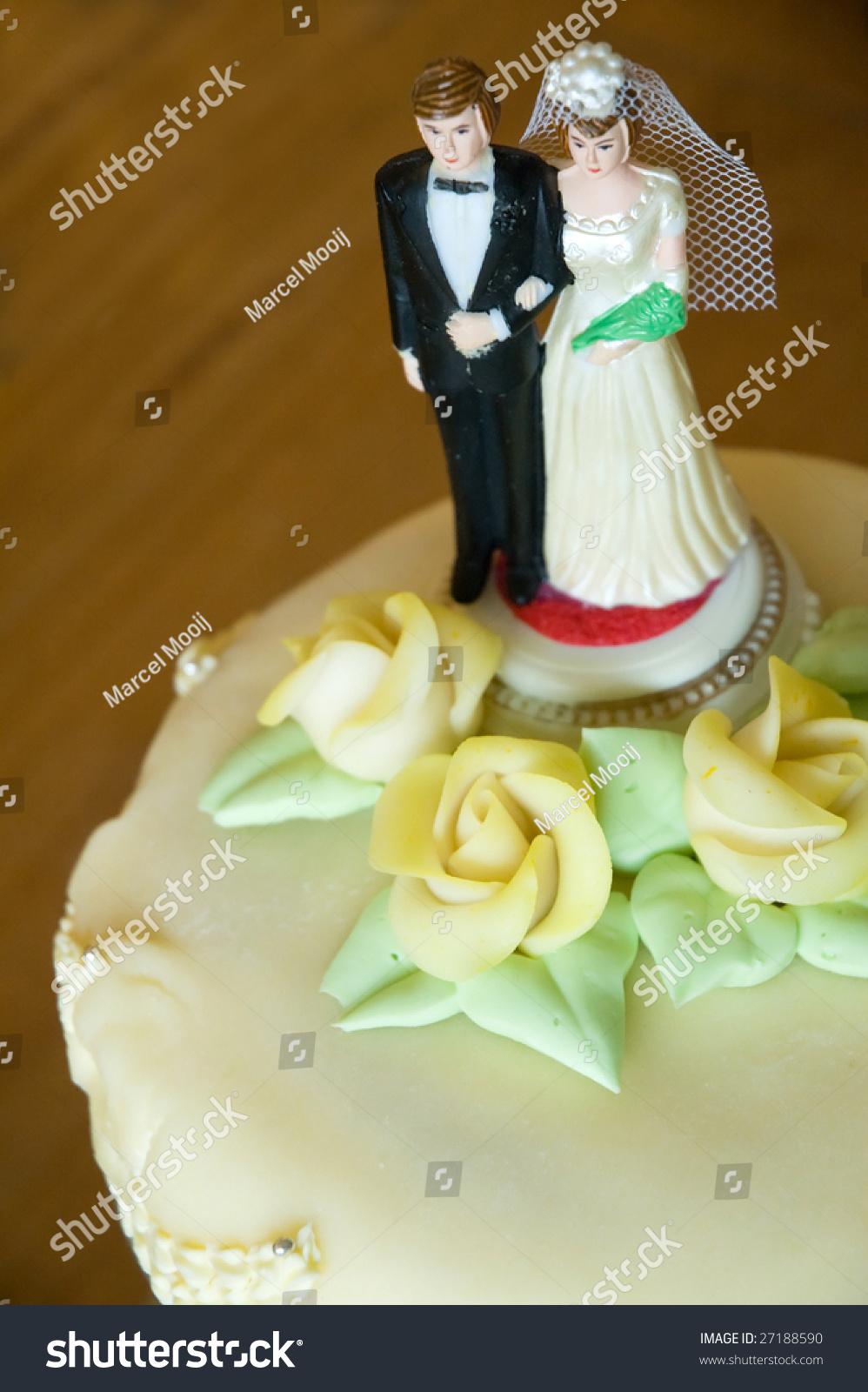 Traditional Bride Groom Figures On Wedding Stock Photo (Royalty Free ...
