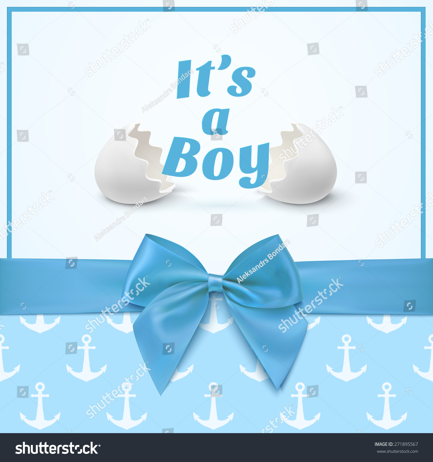 ItS A Boy Template For Baby Shower Celebration Or