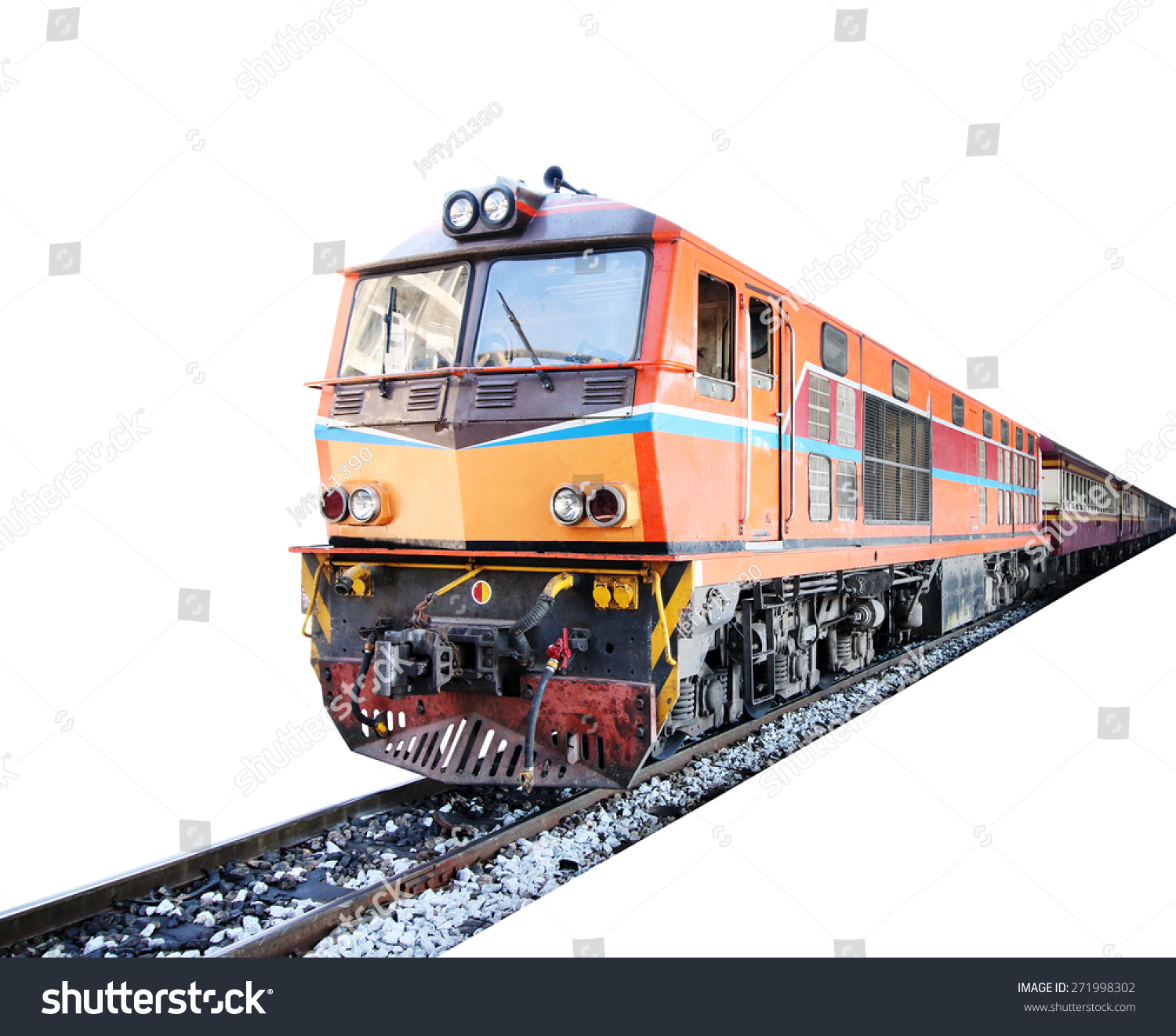 Wallpapers Of Trains: Train , Isolated On White Background Stock Photo 271998302