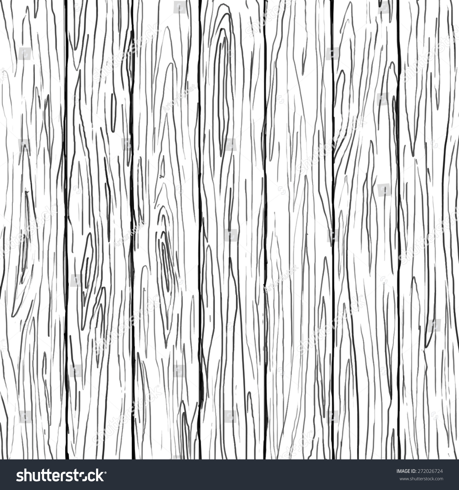 Vector wood texture plank drawing stock