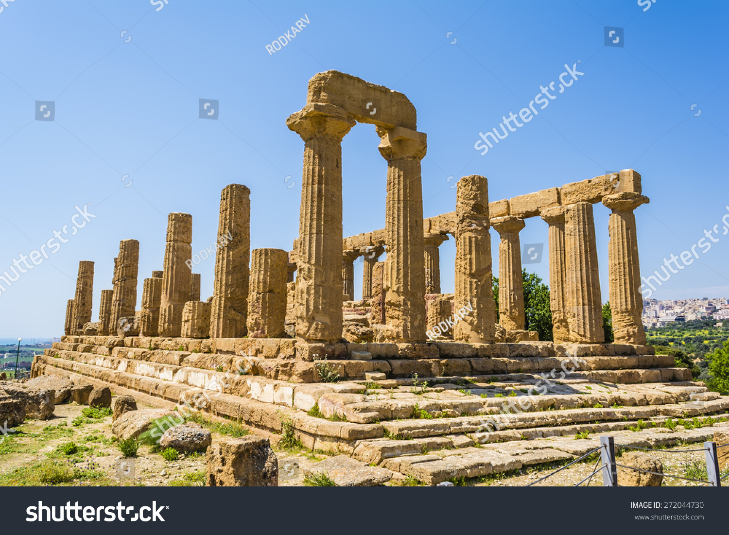 Ancient Greek Temple Juno Hera God Stock Photo Royalty Free