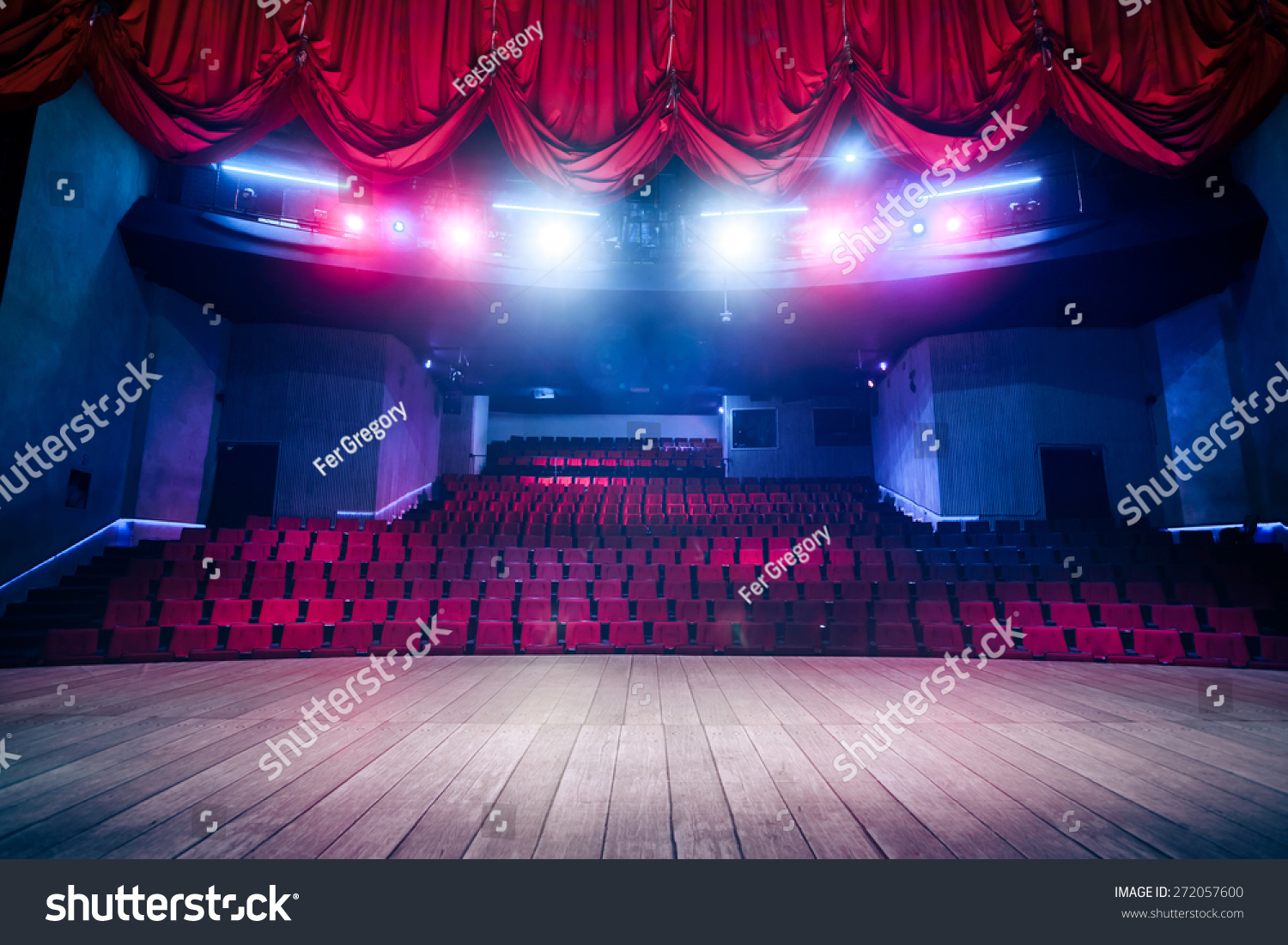 Theater curtain and stage with dramatic lighting  sc 1 st  Shutterstock & Theater Curtain Stage Dramatic Lighting Stock Photo 272057600 ... azcodes.com
