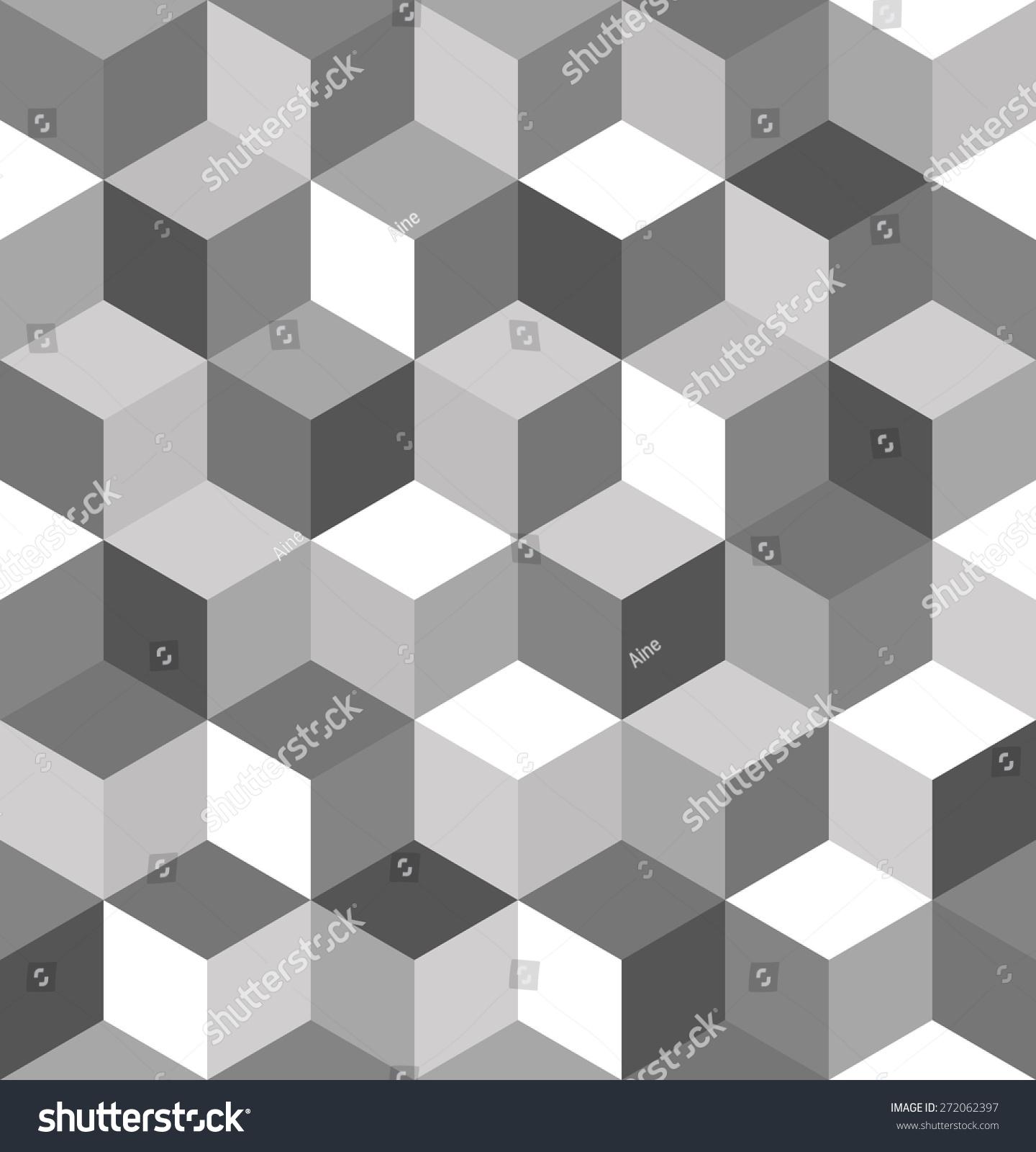 Seamless Pattern Gray Cubes Endless Black Stock Vector 272062397 ...