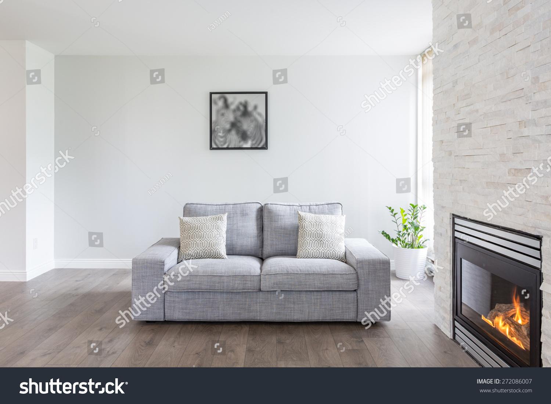 Bright Clean Interior Design Luxury Living Stock Photo