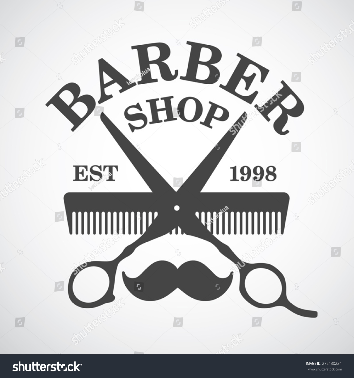 Antique barber shop sign - Vintage Barber Shop Logo Template Design Elements