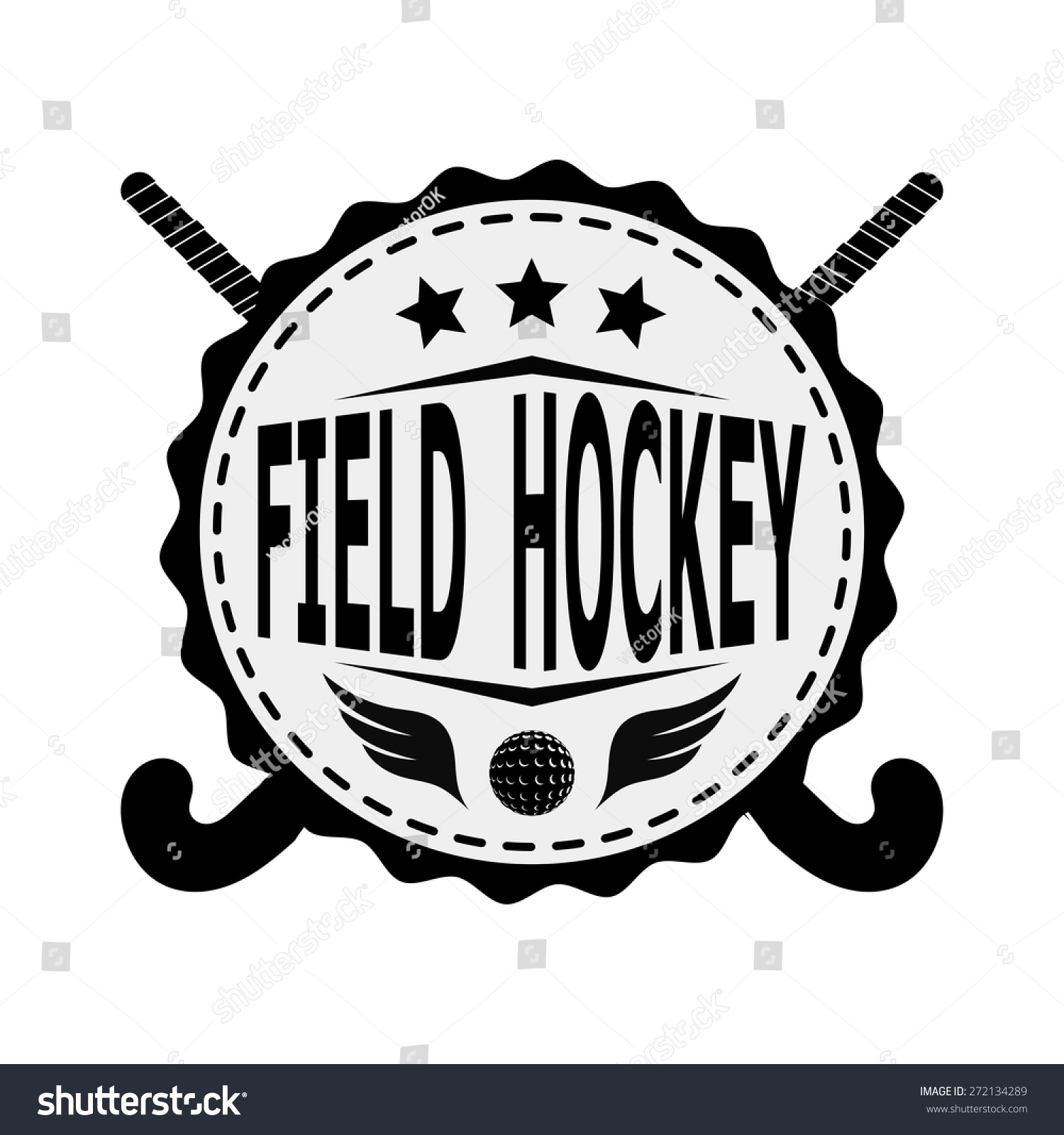 Black badge emblem design team field stock vector 272134289 black badge emblem design for the team field hockey on a white background vector illustration biocorpaavc Image collections