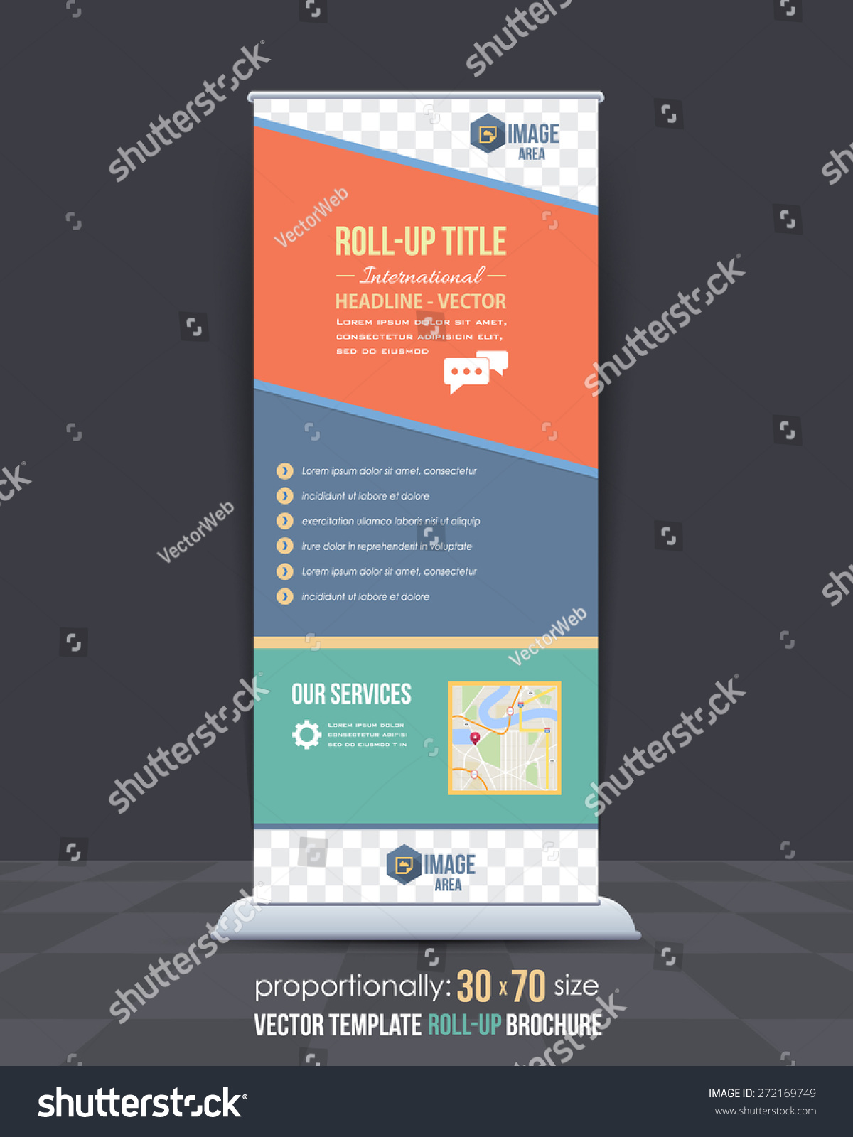 business theme rollup banner design advertising stock vector business theme roll up banner design advertising vector template