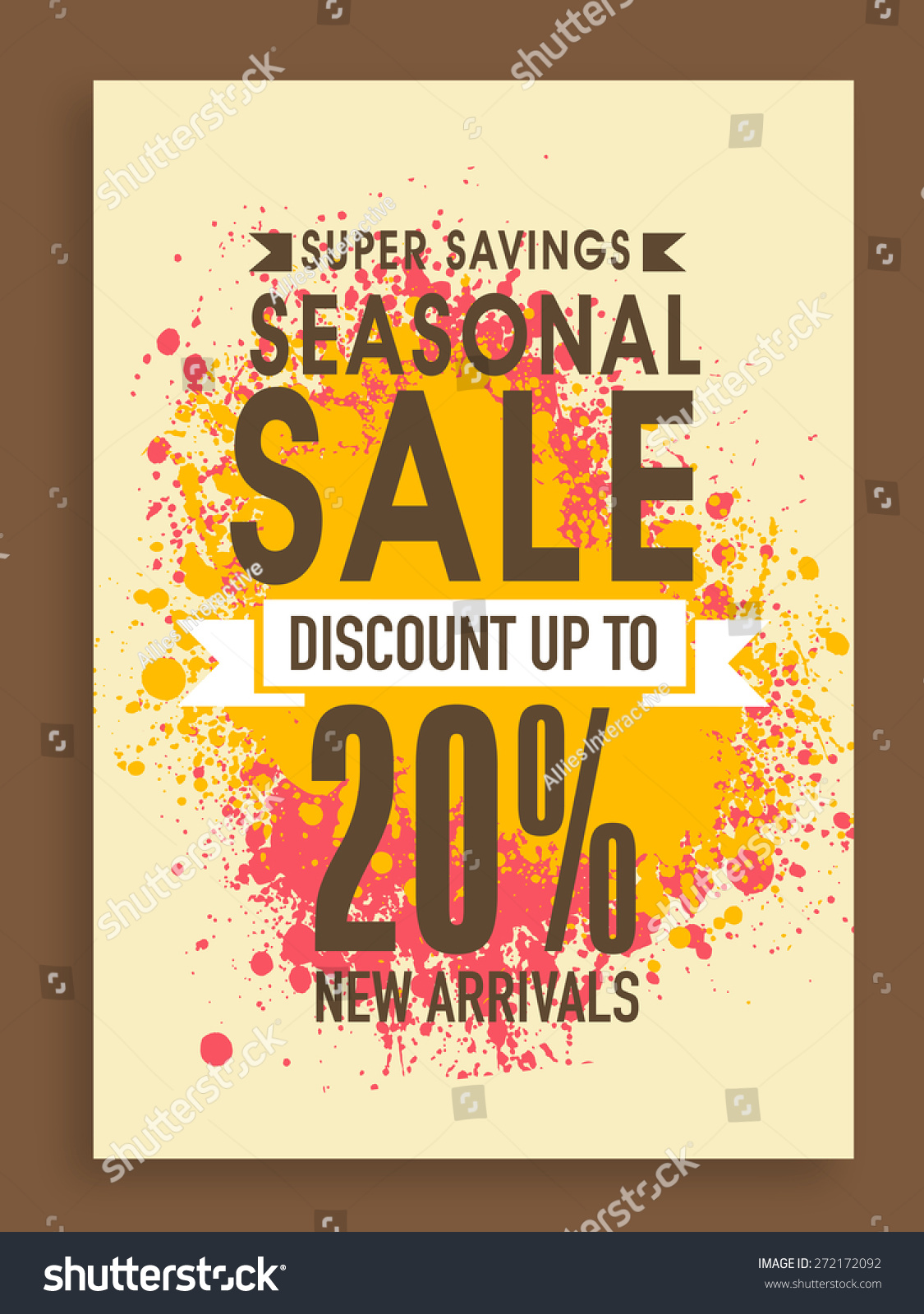 super savings seasonal poster banner stock vector  super savings seasonal poster banner or flyer design discount offer on new