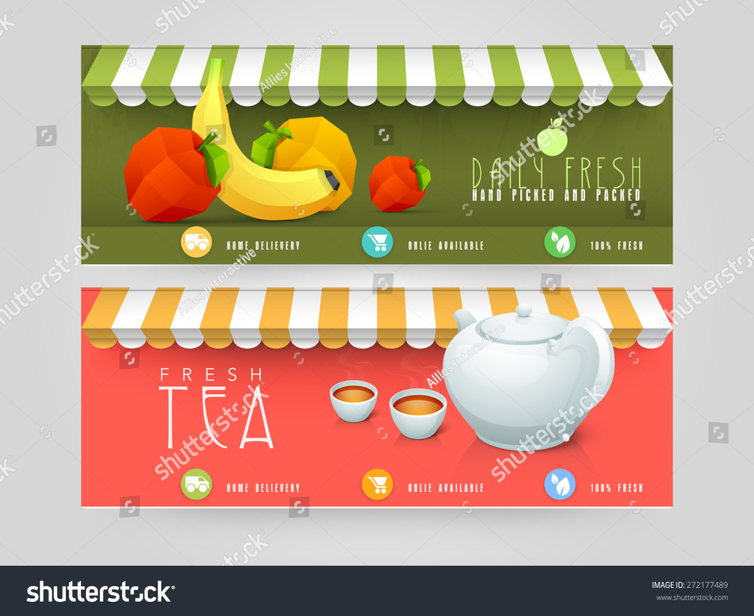 website header banner design restaurant cafe stock vector