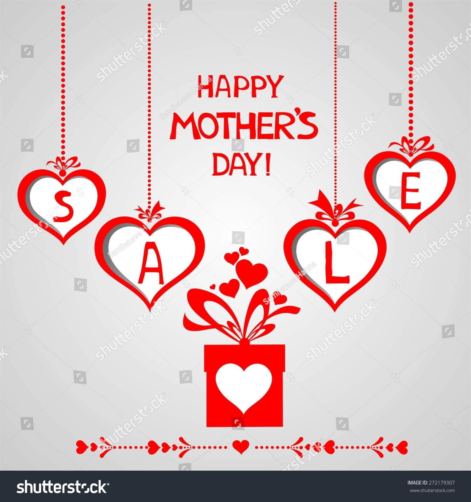 Mothers Day Storewide Sale Template: Happy Mother Day Background Sale Design Stock Illustration