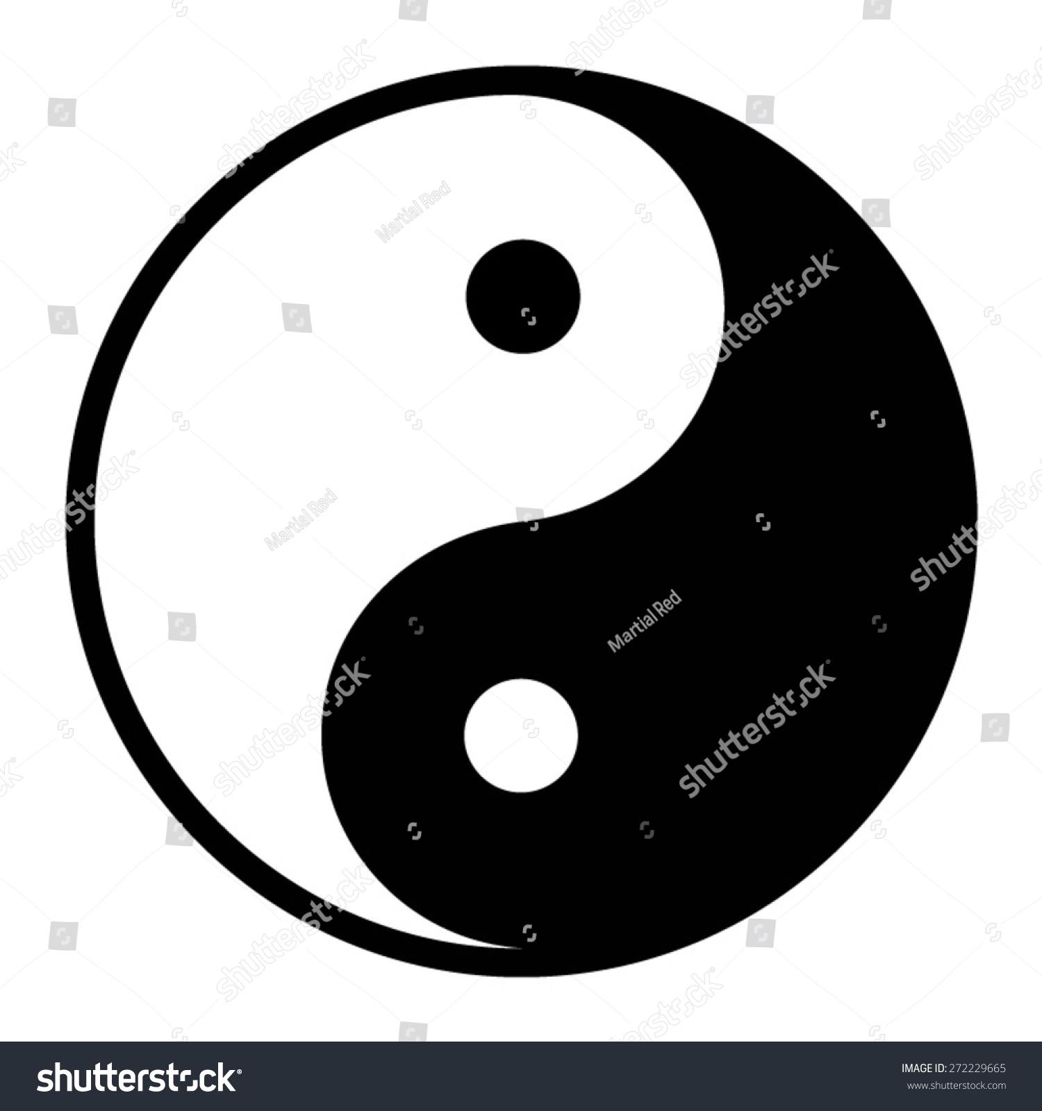 Yin Yang Symbol Of Harmony And Balance On A White Background Ez