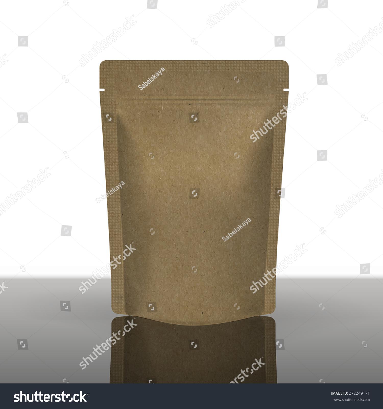 Mockup Foil Food Bag Package Coffee Stock Vector 272249171