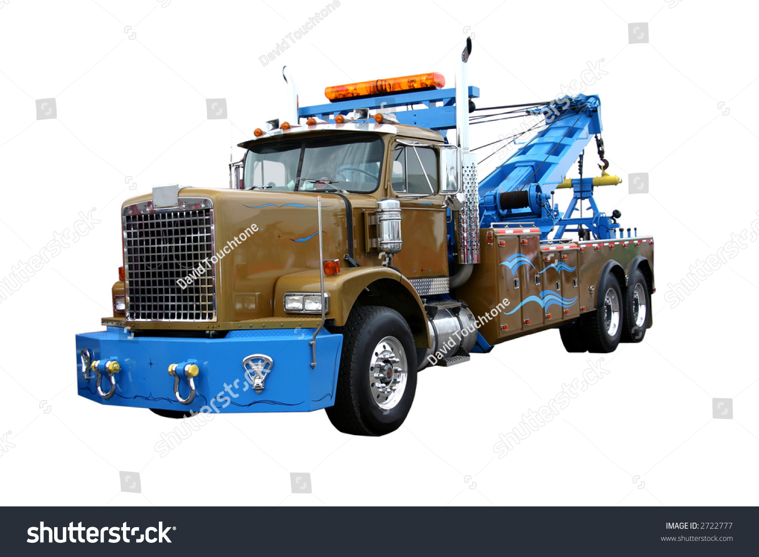 heavy duty wrecker used towing semi stock photo 2722777 shutterstock. Black Bedroom Furniture Sets. Home Design Ideas