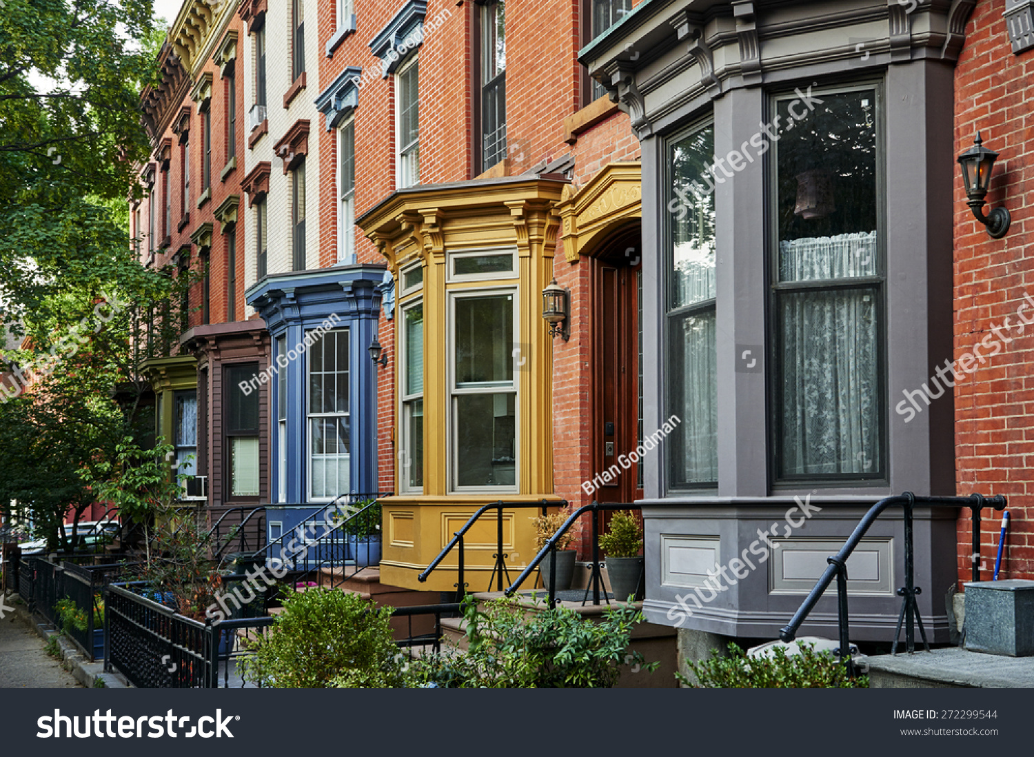 Row colorful apartments big city stock photo 272299544 for Big city apartments