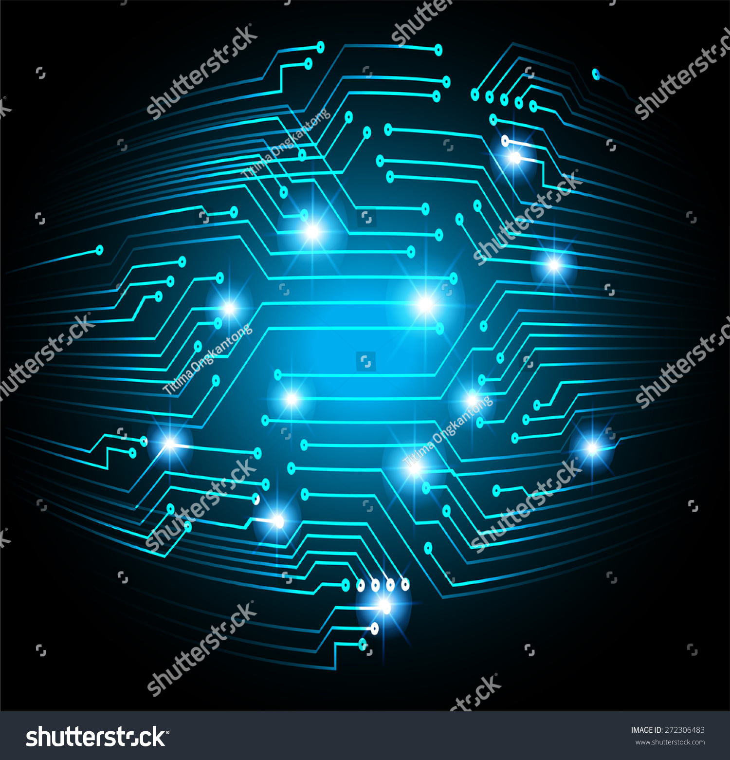 Abstract Vector Green Blue Background With High Tech Circuit Board Printed Infographic Graphic Infographics Ez Canvas