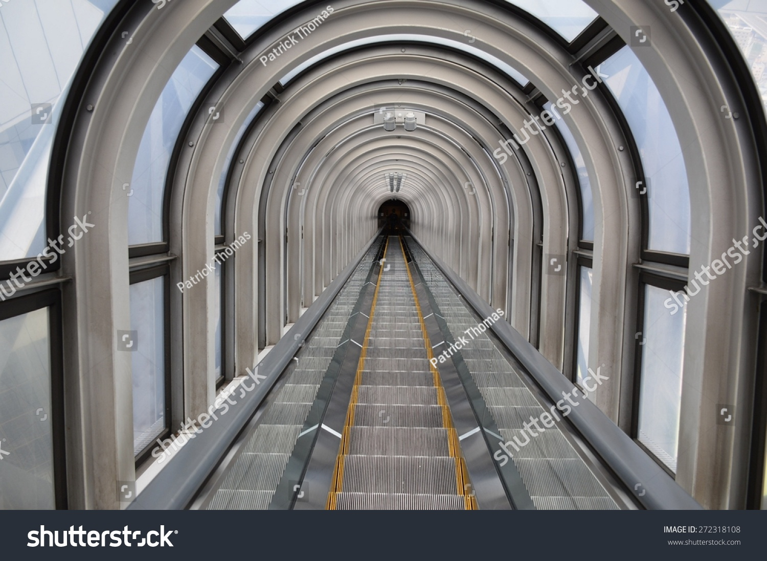 Abstract Tunnel   Moving Staircase   Background