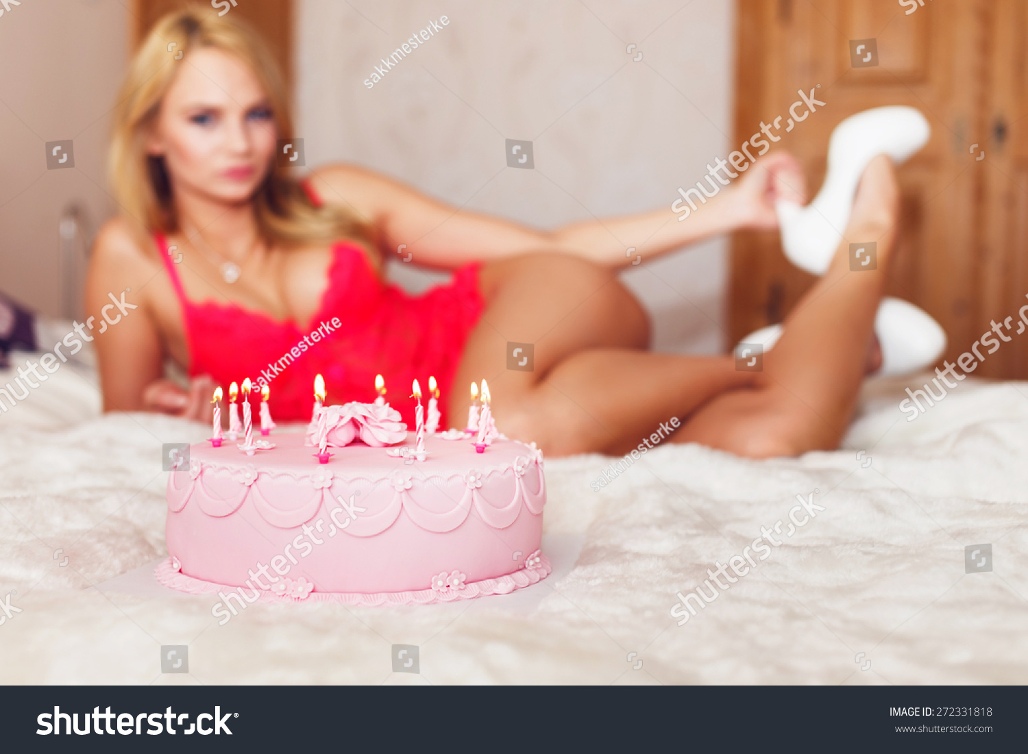 Admirable Birthday Celebration Cake Sexy Lover On Stock Photo Edit Now Personalised Birthday Cards Bromeletsinfo