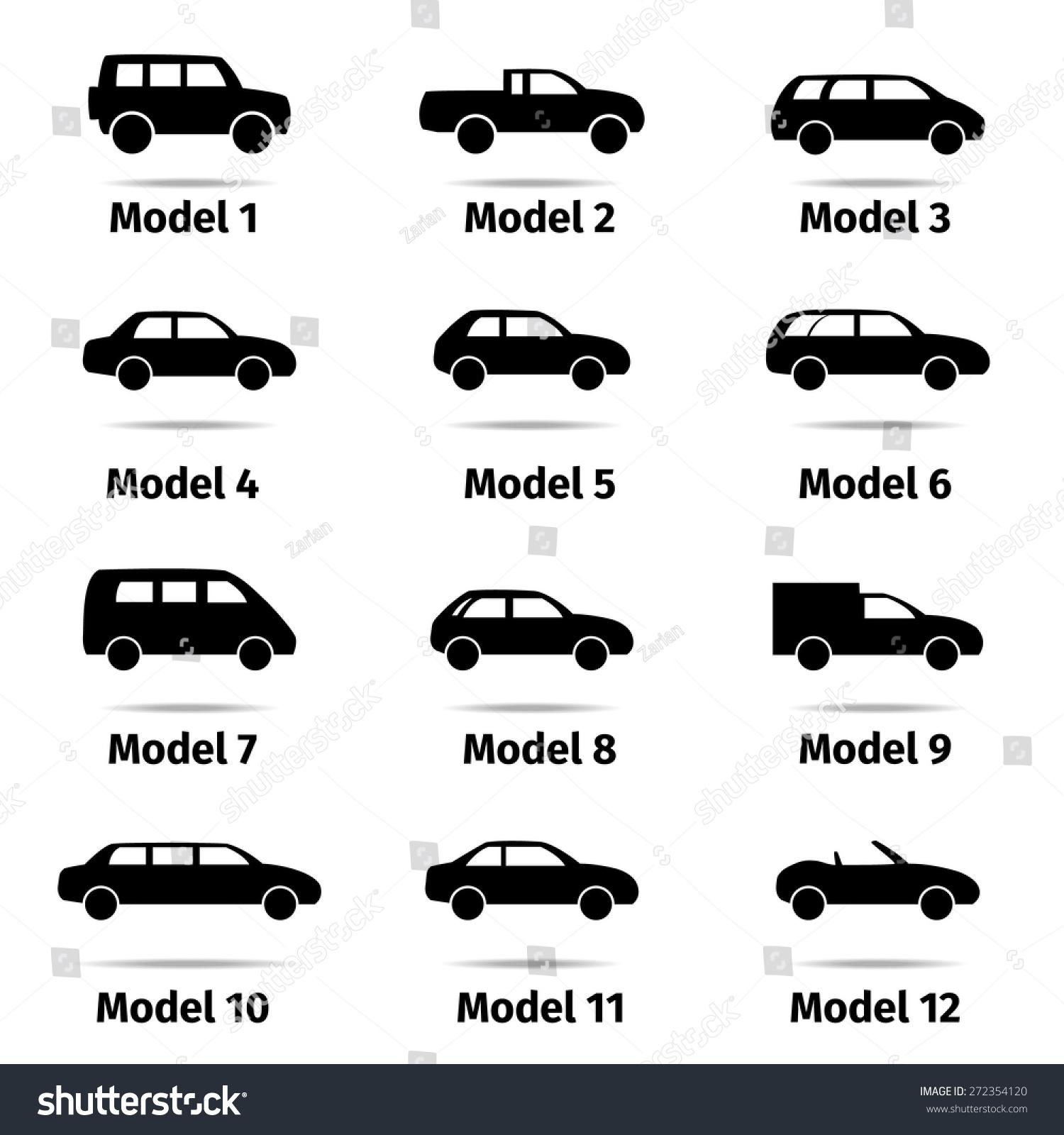 Car Icons Set, Vector Illustration - 272354120 : Shutterstock