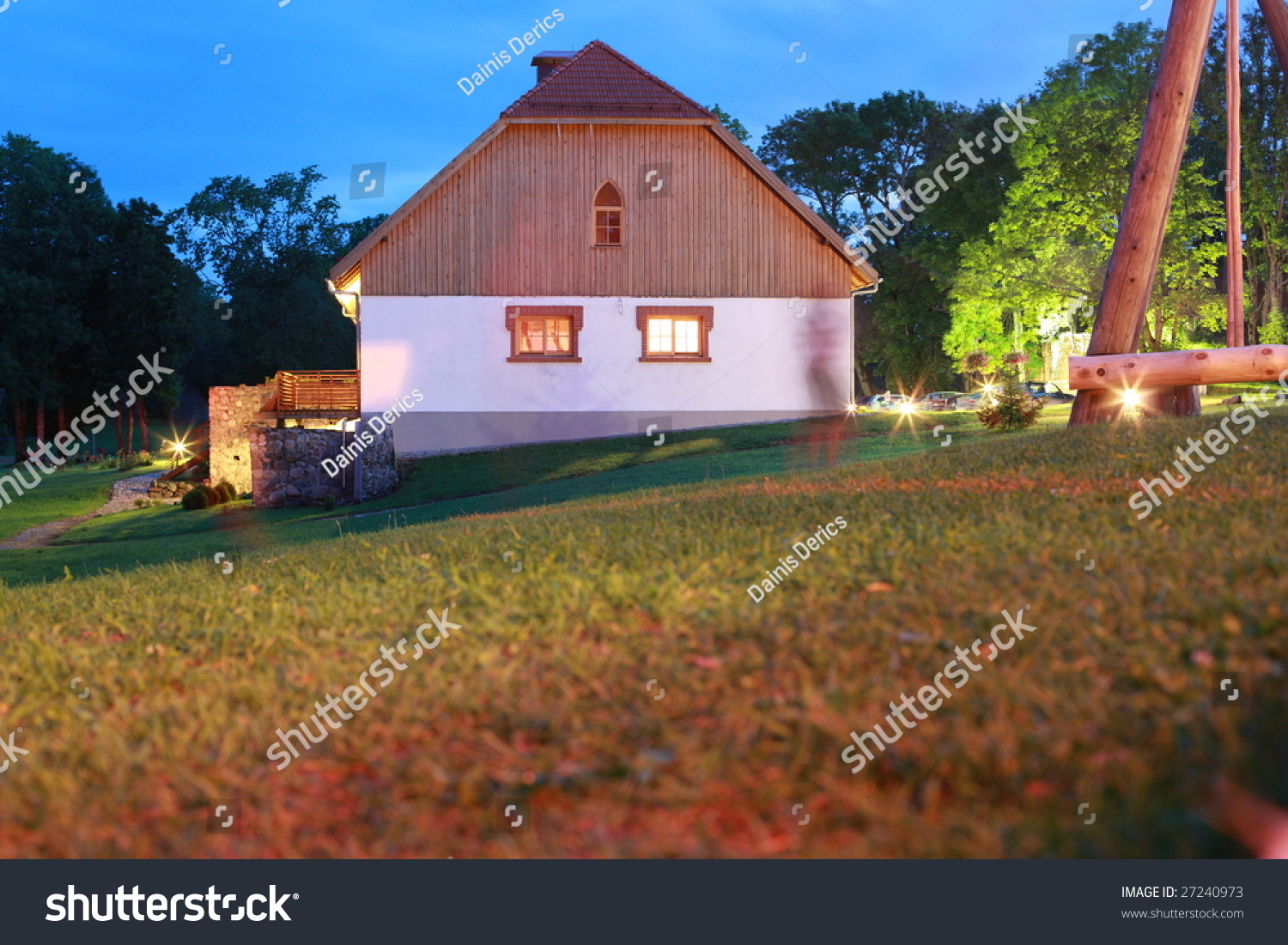 New country house for sale in twilight stock photo for Twilight house for sale
