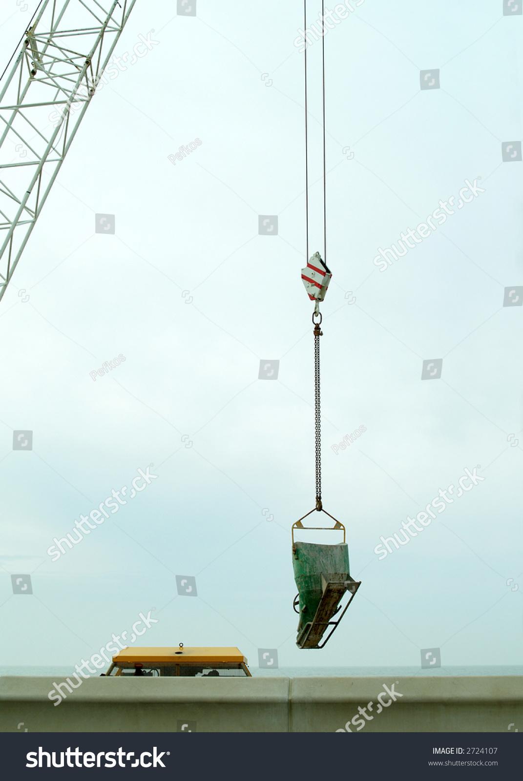 Concrete Hopper On Crane Stock Photo (Edit Now) 2724107