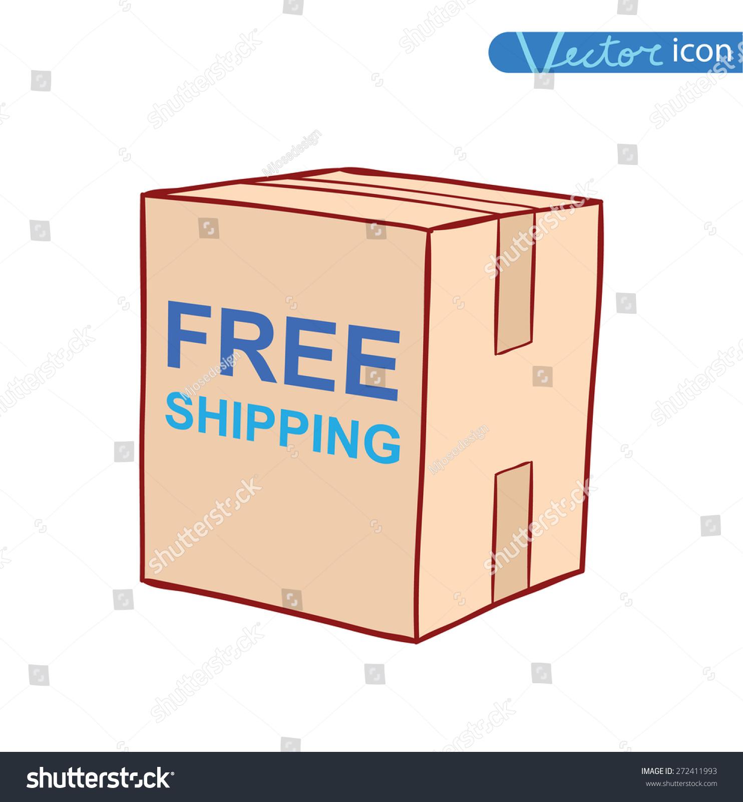 Free Shipping Box Icon Vector Illustration Stock Vector ...