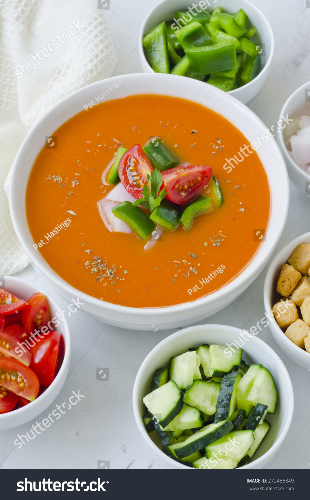 Spanish cuisine gazpacho andalusian cold soup stock photo for Andalusian cuisine