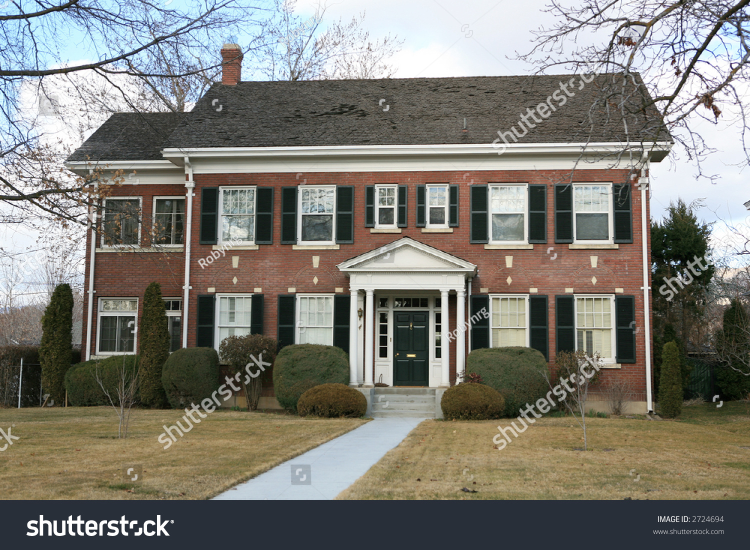 Large two story vintage colonial style stock photo 2724694 for Two story house styles