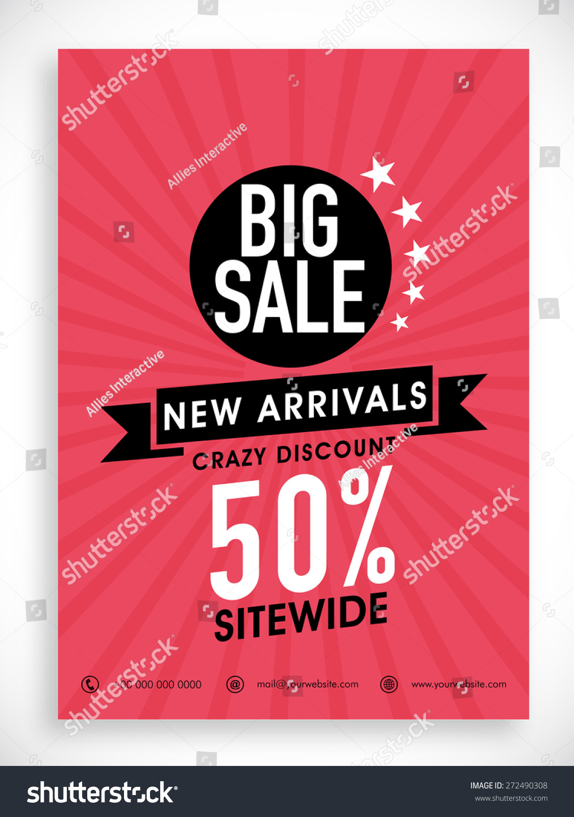 Stylish Big Sale Poster Banner Flyer Stock Vector