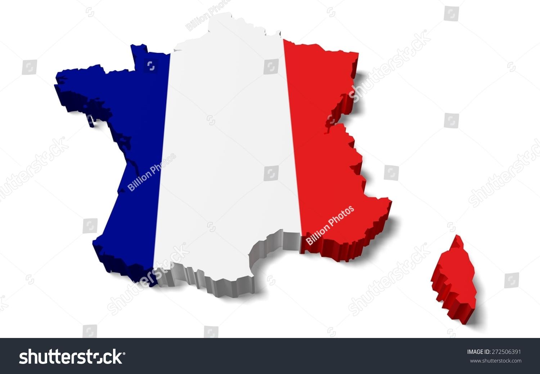 3d france map french flag stock illustration 272506391 shutterstock
