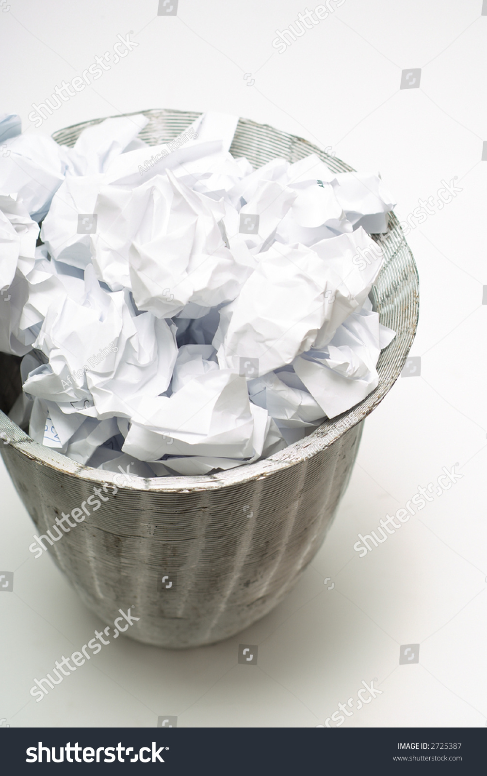 Wire Business Dustbin Wastepaper Basket On Stock Photo (Royalty Free ...