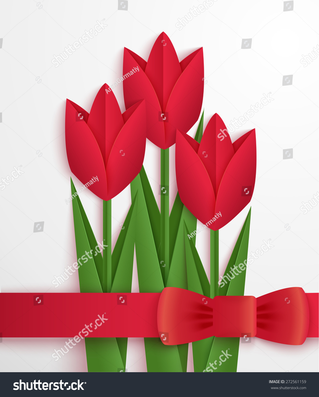 Red paper tulips card greeting card stock vector 272561159 red paper tulips card greeting card stock vector 272561159 shutterstock jeuxipadfo Image collections