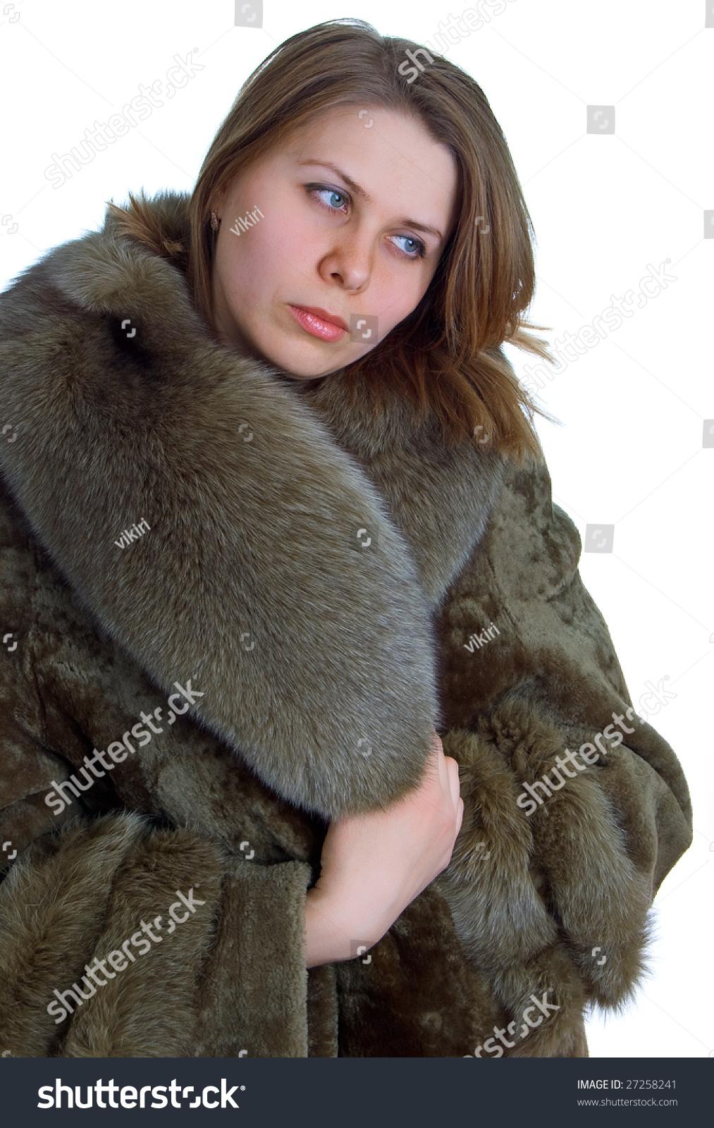 Beaver lamb fur coat