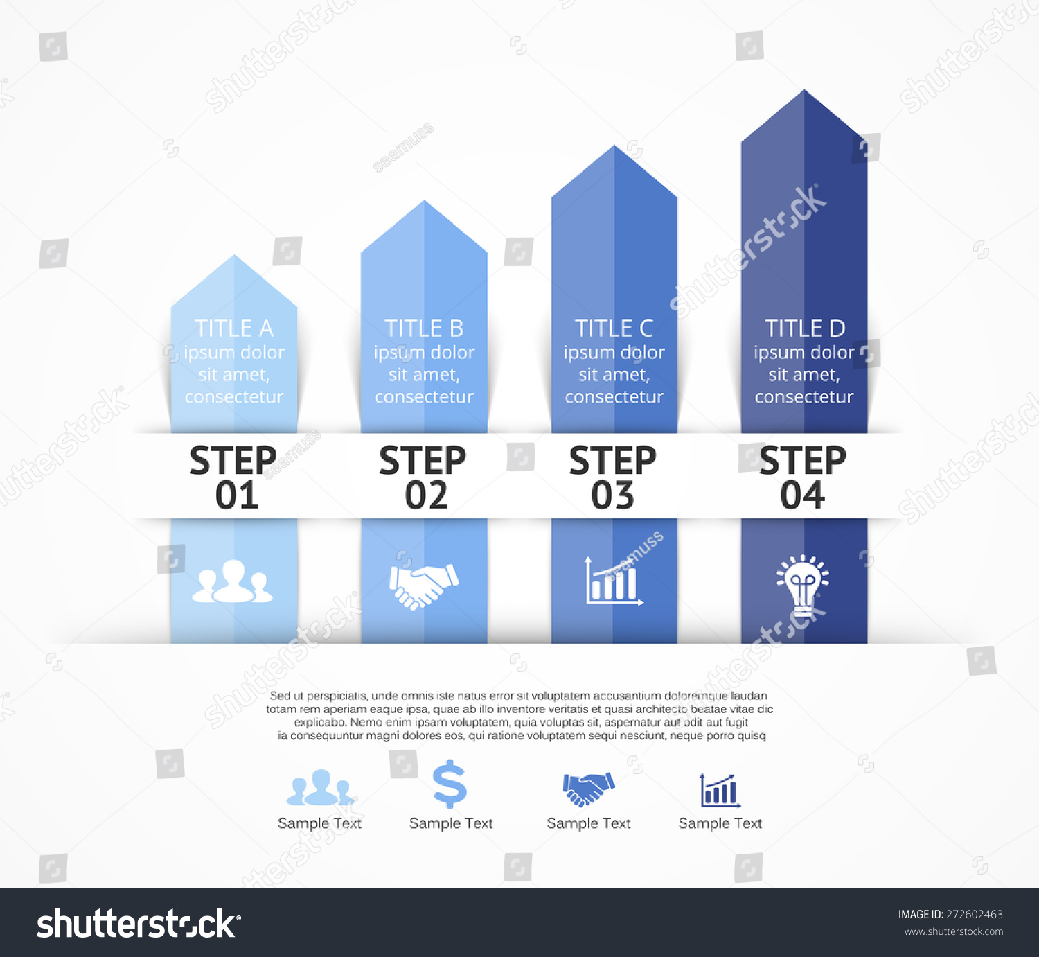. Template for growth up diagram, graph, presentation and round chart ...