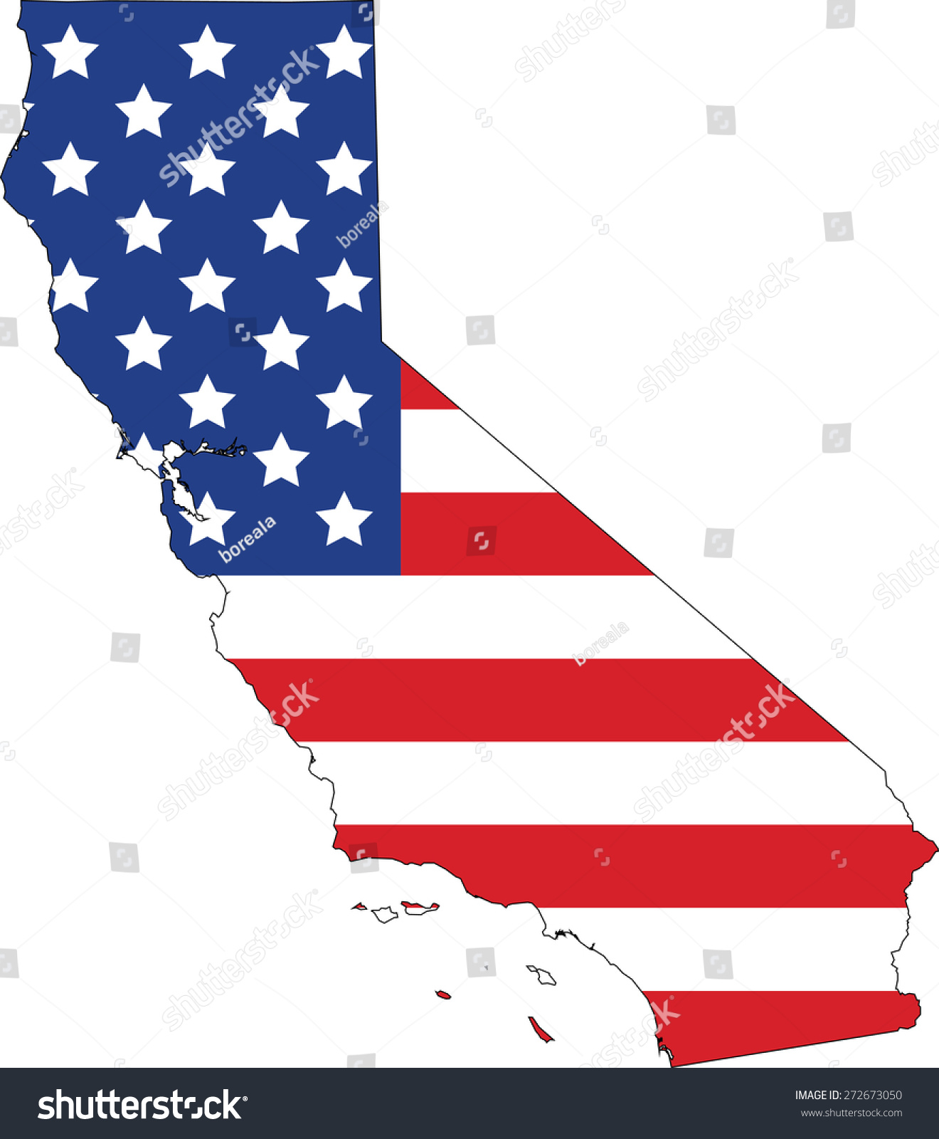 map flag california stock vector hd royalty free 272673050 rh shutterstock com california state flag vector california bear flag vector art