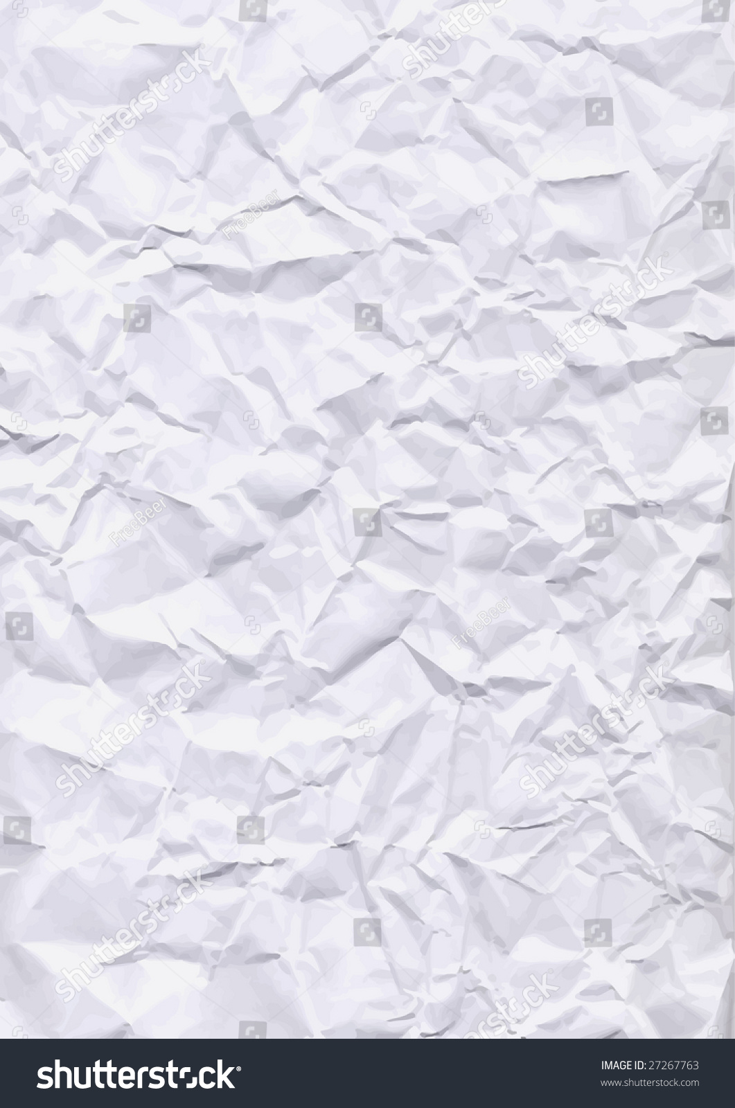 Vector - Crumpled Paper Texture - 27267763 : Shutterstock