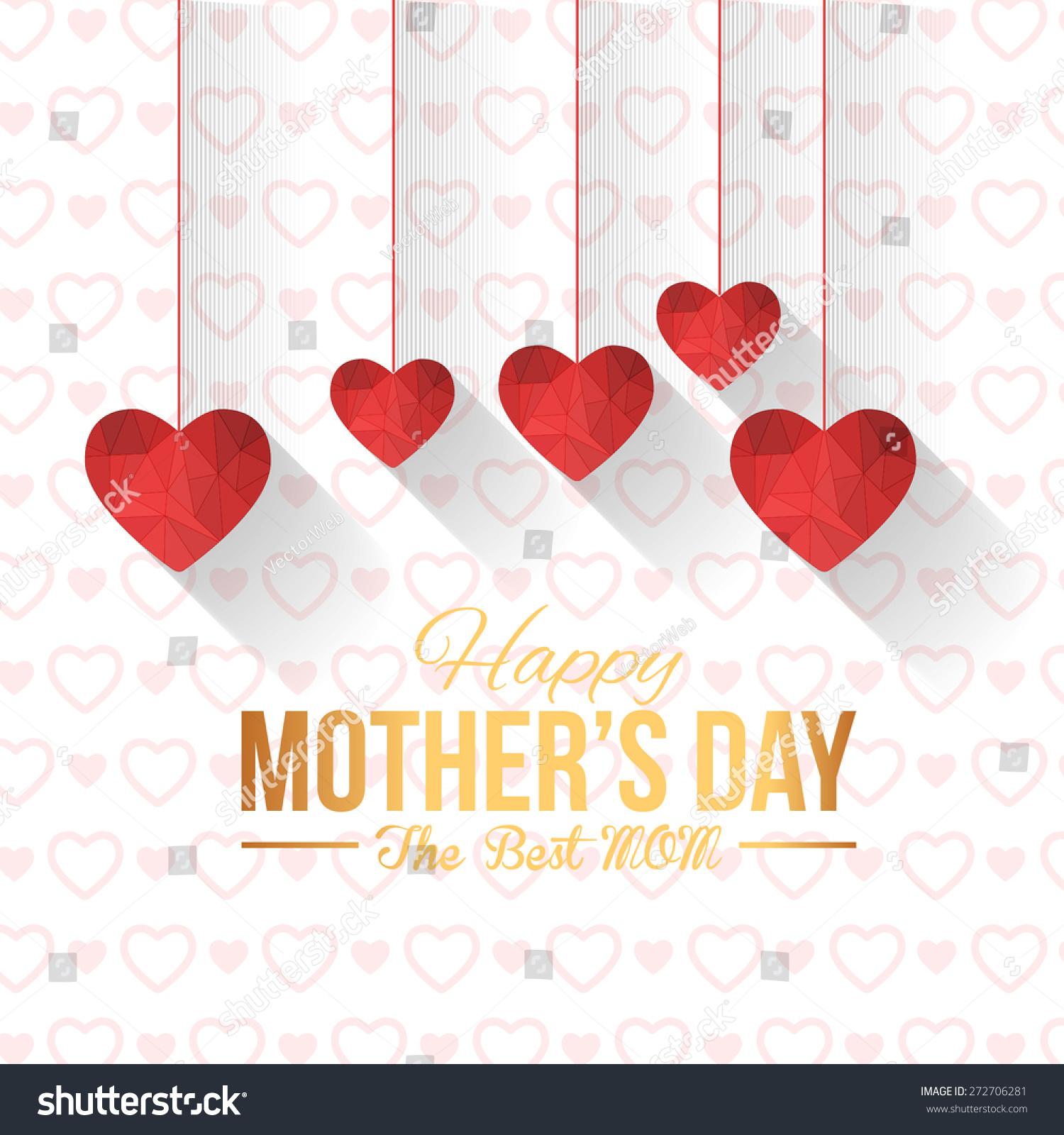 Happy Mothers Day Vector Design Hanging Stock Vector Royalty Free