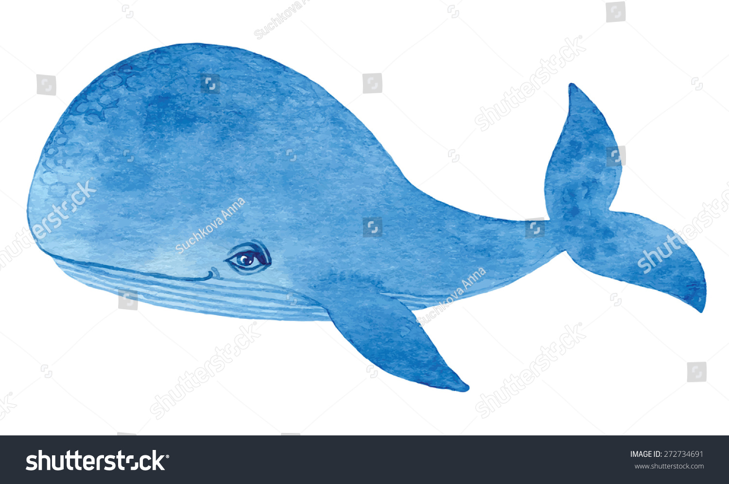 Uncategorized Blue Whale Drawing blue whale watercolor cartoon hand drawing stock vector 272734691 paint