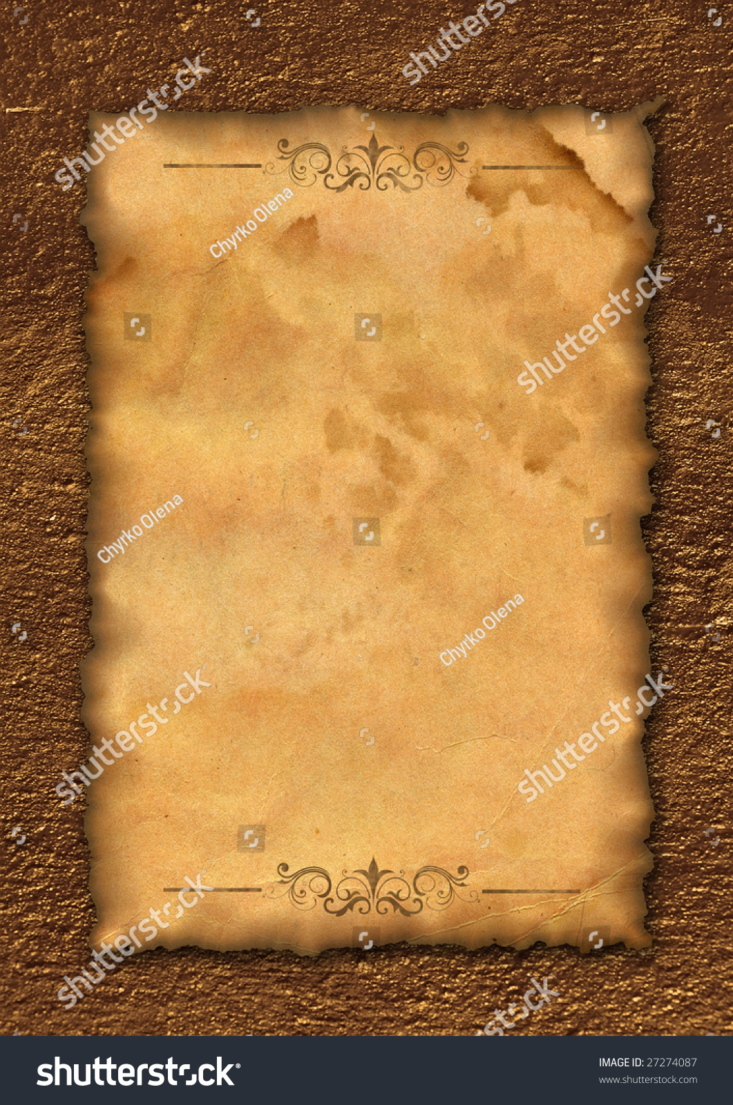 ancient roll template letter writing old stock