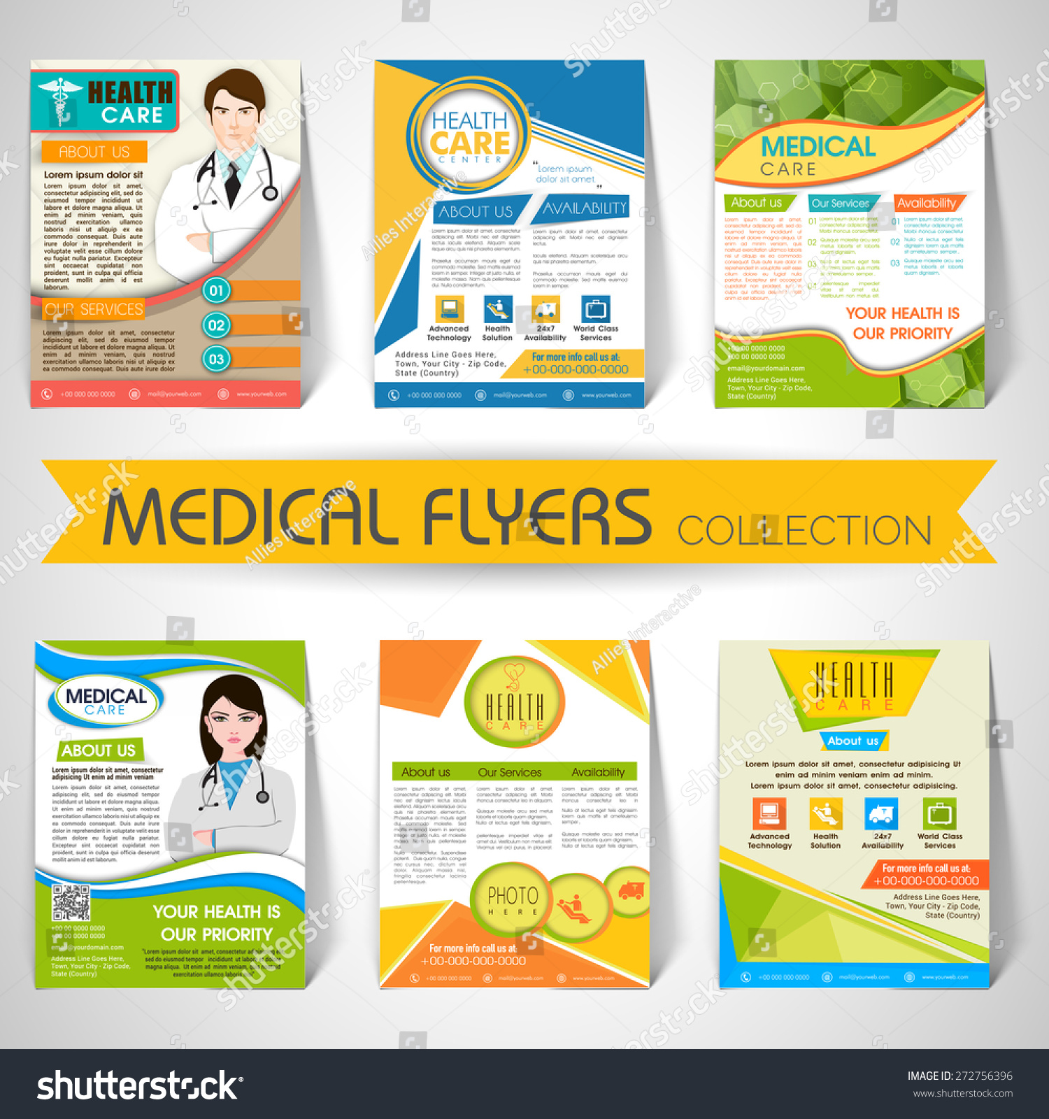 collection stylish flyers templates banners medical stock vector collection of stylish flyers templates or banners for medical and health care concept