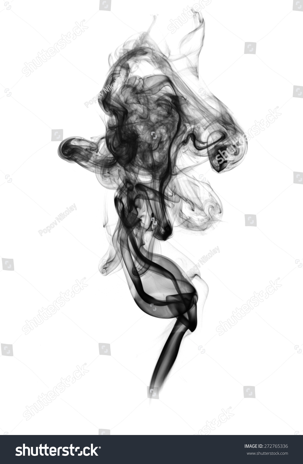 Black Smoke On White Background Stock Photo 272765336 ...