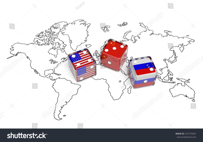 Map Icon Of The World Globe North America USA Stock Photo Royalty - Location world map china us