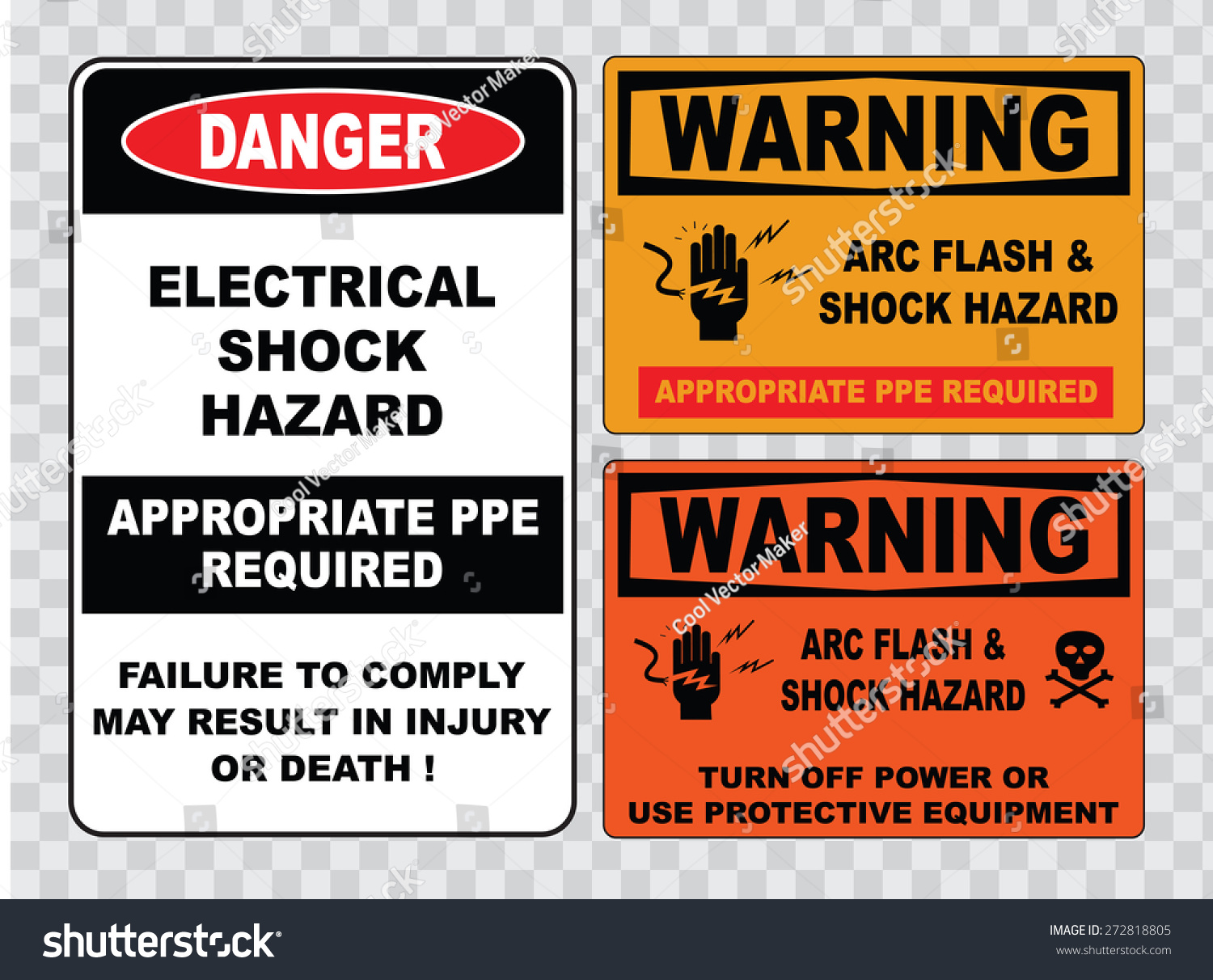 High Voltage Ppe : High voltage sign or electrical safety