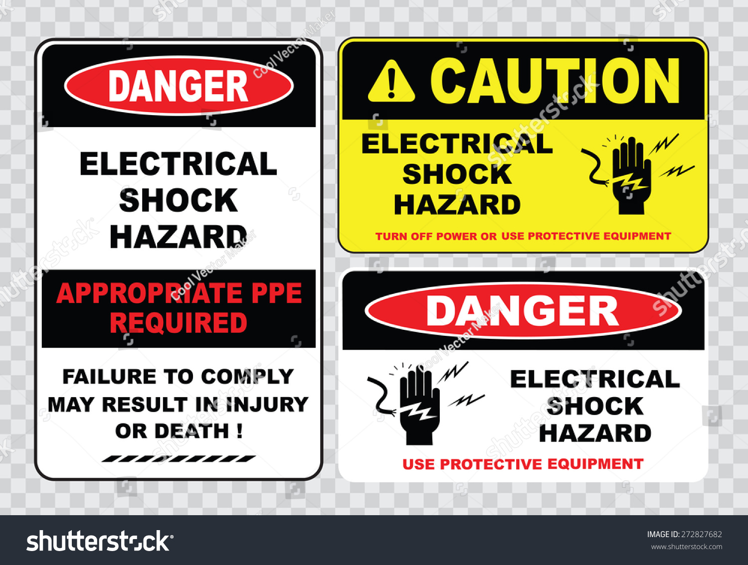 High Voltage Ppe : High voltage sign electrical safety stock vector