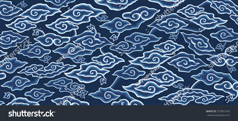Megamendung Batik Pattern Stock Vector 272851676 : Shutterstock