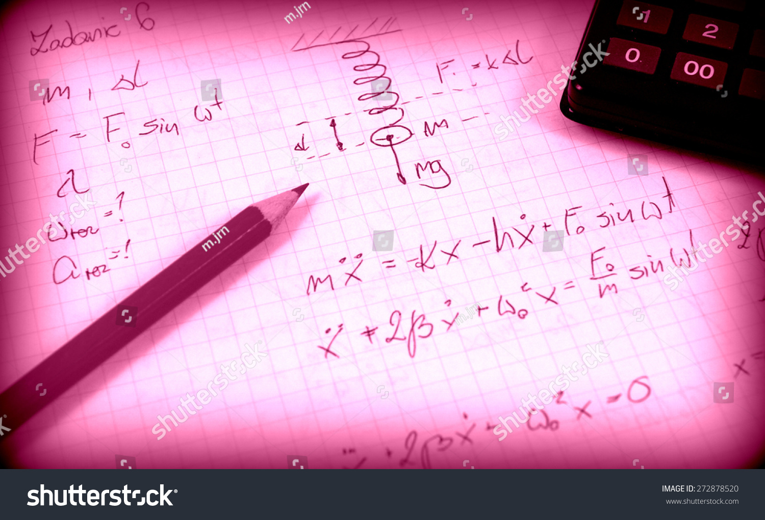 Advanced physics and maths notes … Stock Photo 272878520
