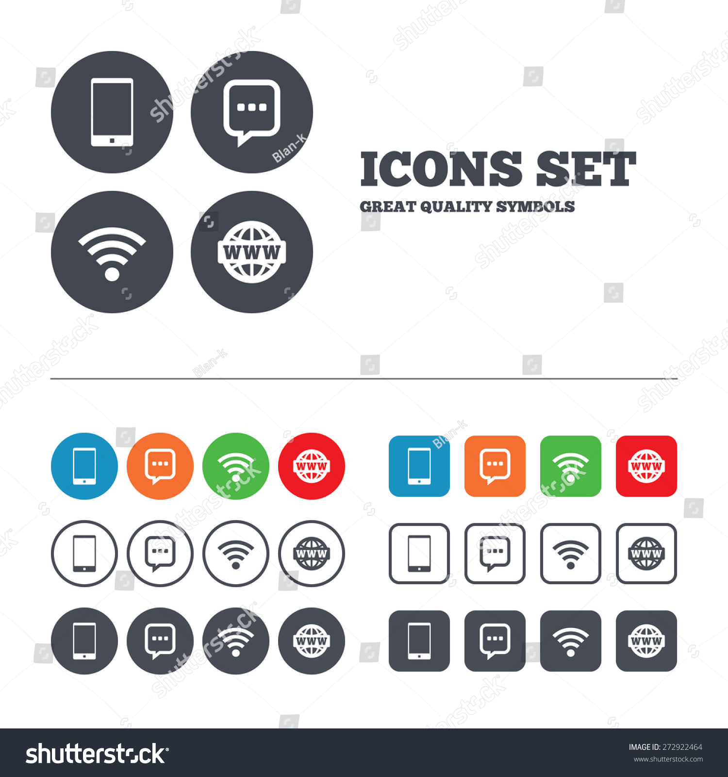 Stock Vector Communication Icons