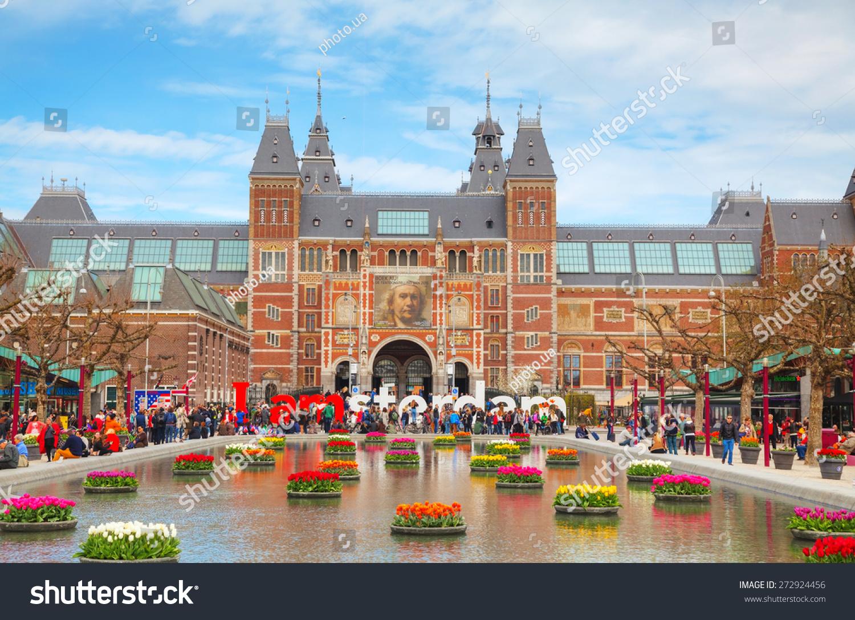 Amsterdam April Amsterdam Slogan Crowd Stock Photo - Where is amsterdam